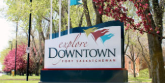 downtown sign
